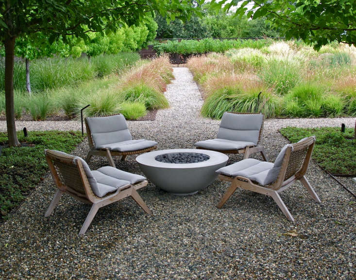 A decidedly not-cheap option for outdoor furniture is the well-madeSerene line of sustainable teak pieces from Henry Hall Designs. PhotographbyScott Lewis Landscape Architecture, fromFavorite Furniture: Sustainable Teak from an Italian Designer.