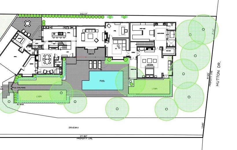 Site Plan: Simo Design Beverly Hills Remodel | Gardenista