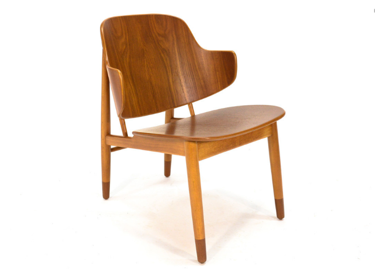 Teak-Kofod-Larsen-Shell-Lounge-Chair-Arroyo-Artifacts-Remodelista