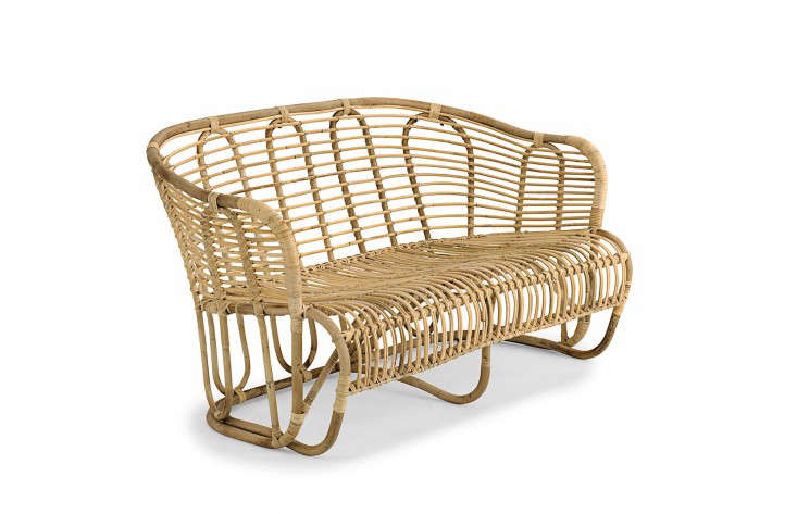 Designer Tove Kindt-Larsen&#8\2\17;s wavy rattan Swing Sofa (circa \1937) looks as modern as ever nearly 80 years later. It measures \170 centimeters long (about 67 inches) and is €933 from Liggestolen.