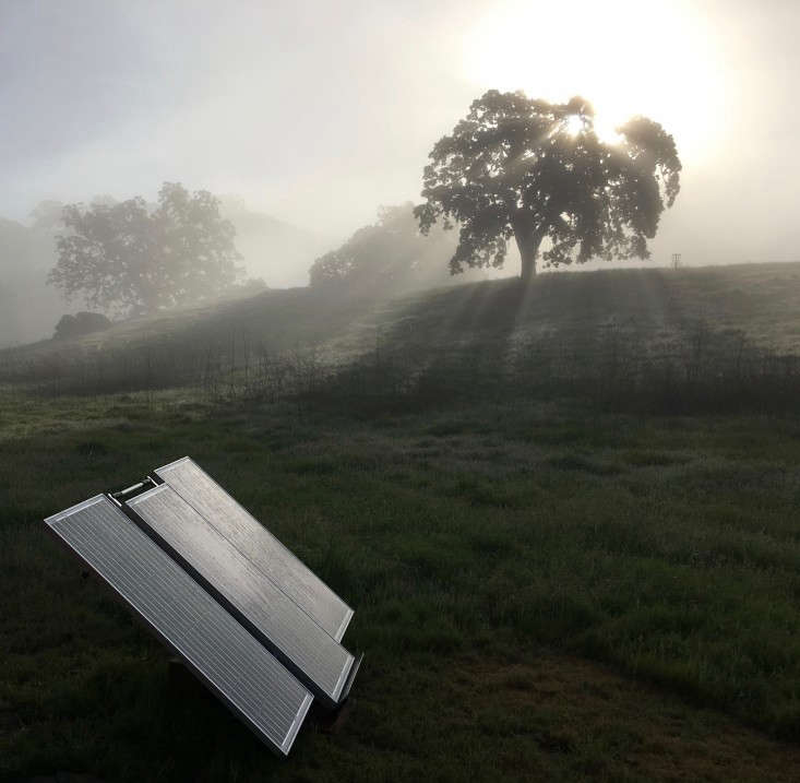 Photograph by Allie Rowe. See more of this solar power setup at Tiny Homes: Living Large in 5 Square Feet, Baby Included.You won't need to install solar panels on your house to power the lights in your garden. Each light comes with its own mini panel.