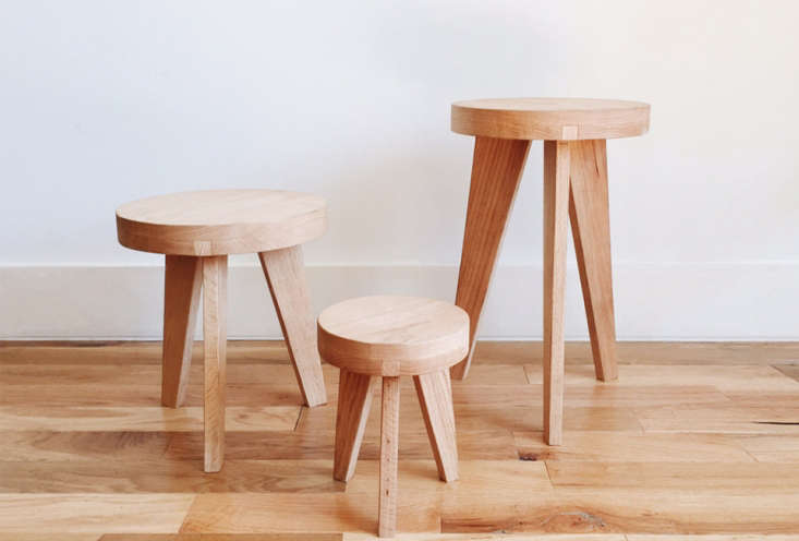 """Another design from Counter Space in Los Angeles, only this time they're proper stools, that also look great with plants as it turns out. They come in two heights: the C-S Low Stool at  inches high ($345) and the Round Stool Standard at """" high ($435), both available at Counter Space."""