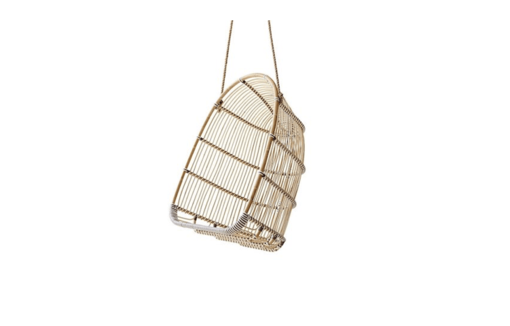Also by Sika Designs, a rattan Renoir Hanging Swing Chair is \$\1,\248 from Sika Design.