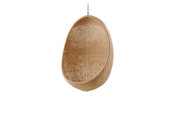 A Hanging Egg Chair by Sika Design is \14,80\1 SEK (approximately \$\1,59\1 US) from Artilleriet.