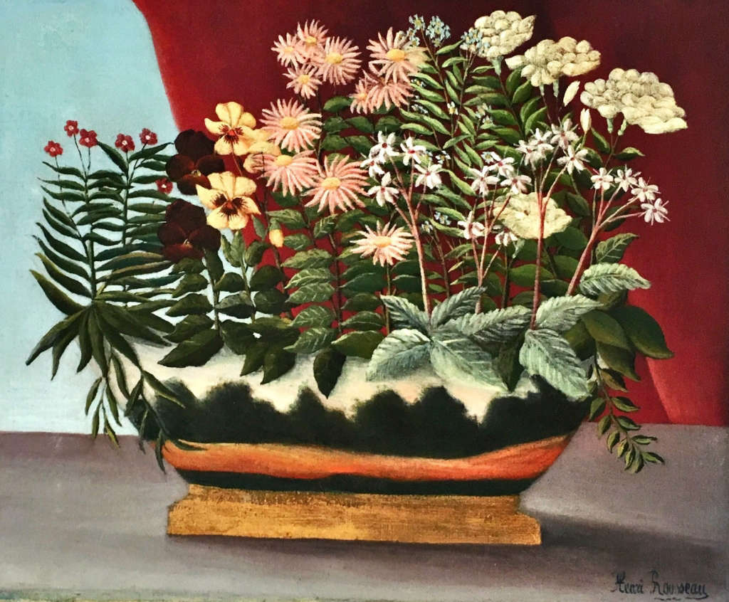 Mellon collection Rousseau flowers poetry oil painting NYBG