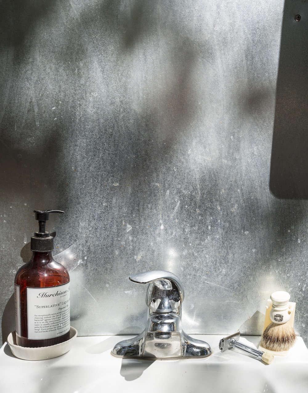 Outdoor Sink with Stainless Backsplash