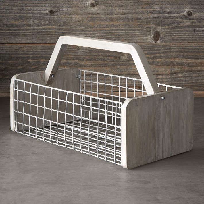 Williams-Sonoma's Gardening Basket is perfect for harvest time and serves as a unique storage solution. The basket measures  by . by loading=