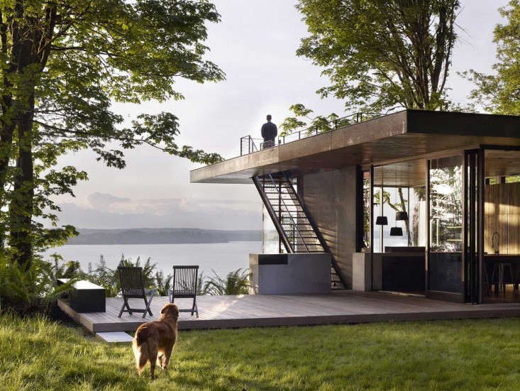 See more of this beautifully designed ipe deck inArchitect Visit: A Puget Sound Cabin That Rests Lightly on the Land.Photograph byJeremy Bittermann.