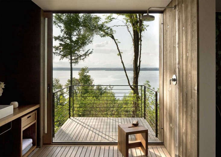 Of our 9 Design Ideas to Steal from the Scandi Summer House, no. 8 involves a bath with a view.