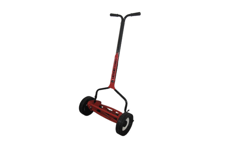A six-blade Mascot Reel Lawn Mower is \18 inches wide for easy use in tight spaces; \$3\19.99 (add \$59.99 for an optional grass catcher) at Clean Air Gardening.