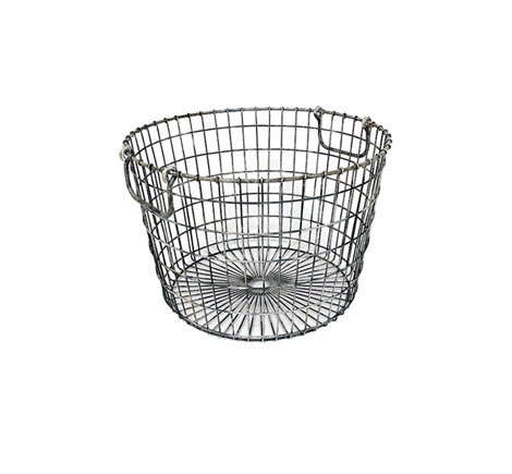 A Round Metal Wire Basket from Hudson Goods that comes with a set of two; $85.