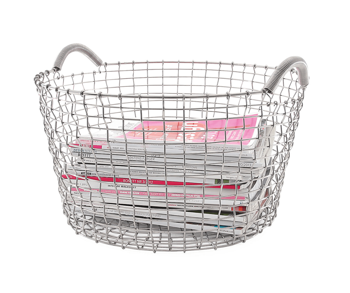 The Swedish Wire Basket with two side-handles; €src=