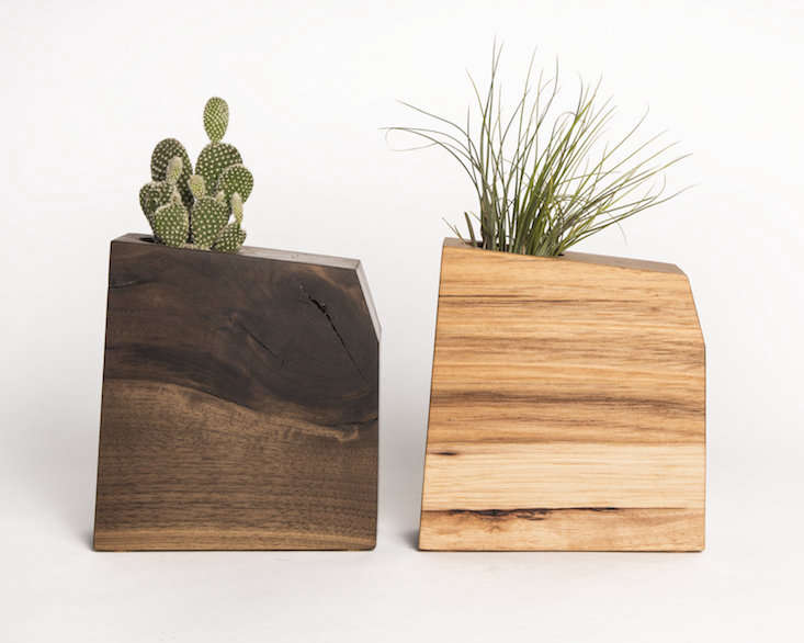 Boyce Studio wyatt walnut hickory planter on gardenista current obsessions