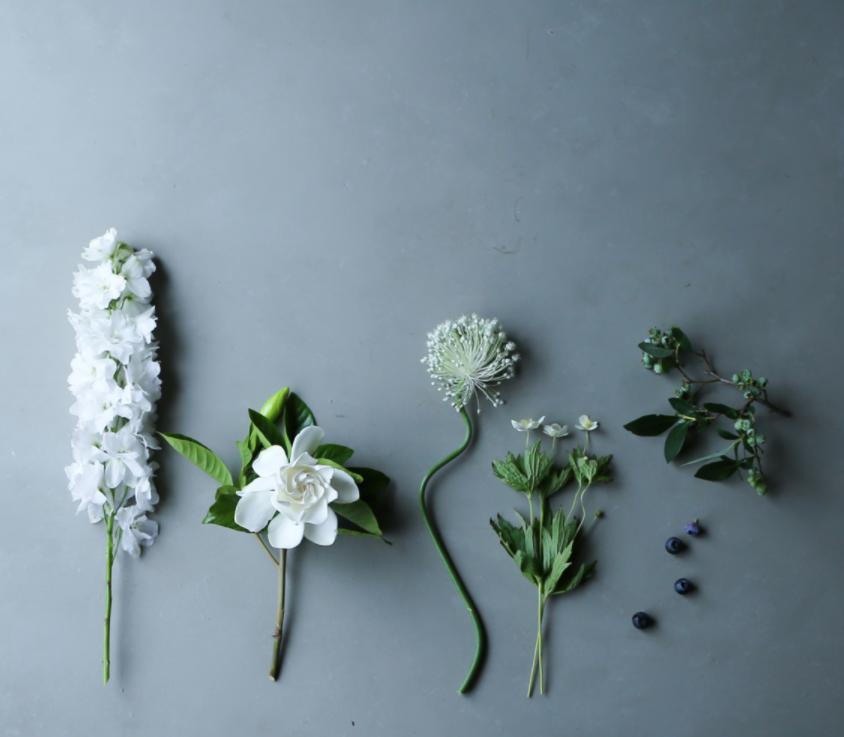 Stems on Grey Background by Yukiko Masuda