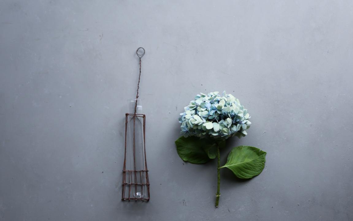Wire Vase and Hydrangea by Yukiko Masuda