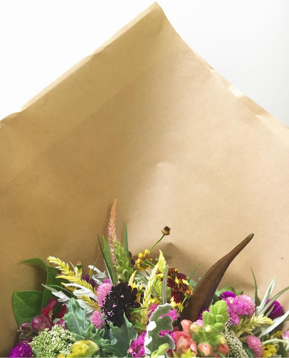Petal by Pedal Bouquet in Brown Paper