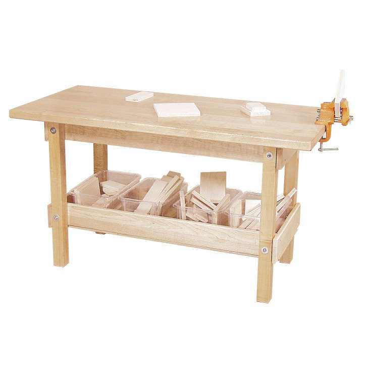Workbench with clear maple top from Wayfair