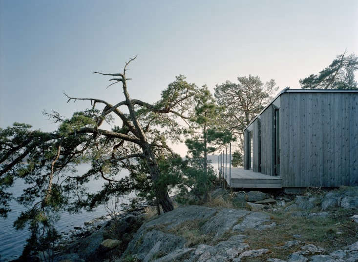 A cable railing at the edge of a patio in the Stockholm archipelago. See more at Architect Visit: Claesson Koivisto Rune.