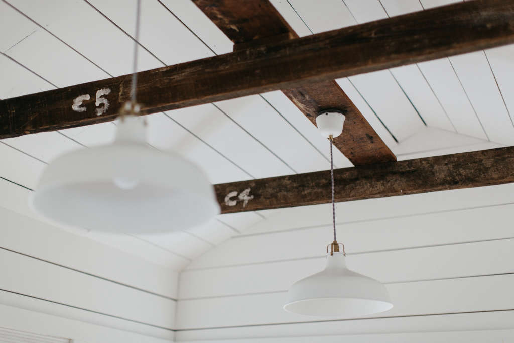 Good South Studio Final Beams, Photo by Brett and Jessica Photography