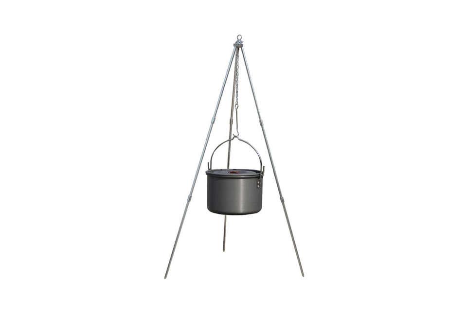 Outdoor Campfire Aluminum Tripod Hanging Pot Stand