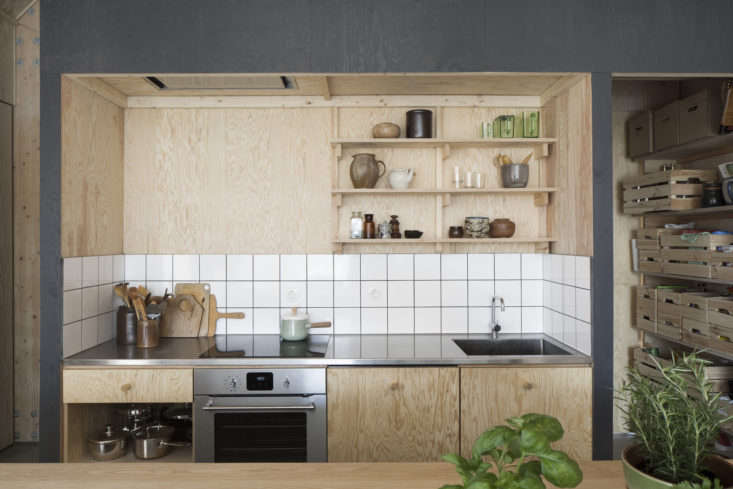 Light wood is a Scandi staple; lately we&#8\2\17;ve especially admired it paired with black. Photograph by Markus Linderoth, courtesy of Förstberg Ling, from Kitchen of the Week: A Cost-Conscious Kitchen in Sweden.