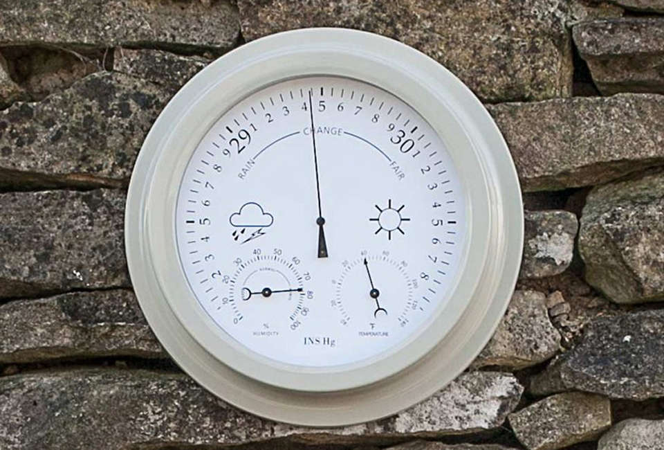 Faroe Barometer Thermometer and Hygrometer in Clay