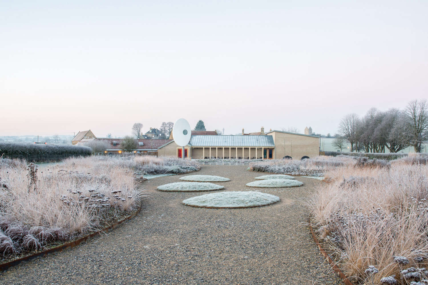 Oudolf field at Hauser and Wirth Somerset in Winter