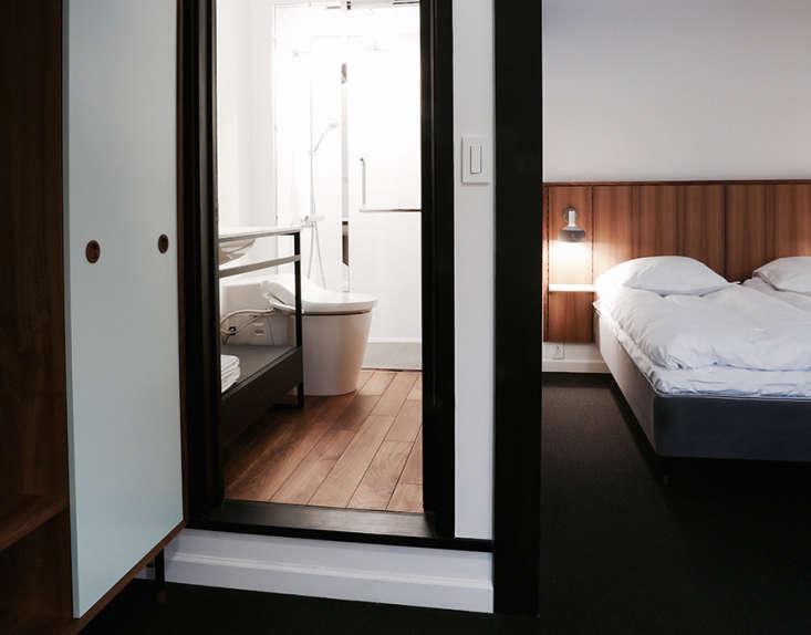Julie admires the high-tech toilets atHotel Hakuba: A Japanese Ski Lodge for Scandi Design Fanatics.