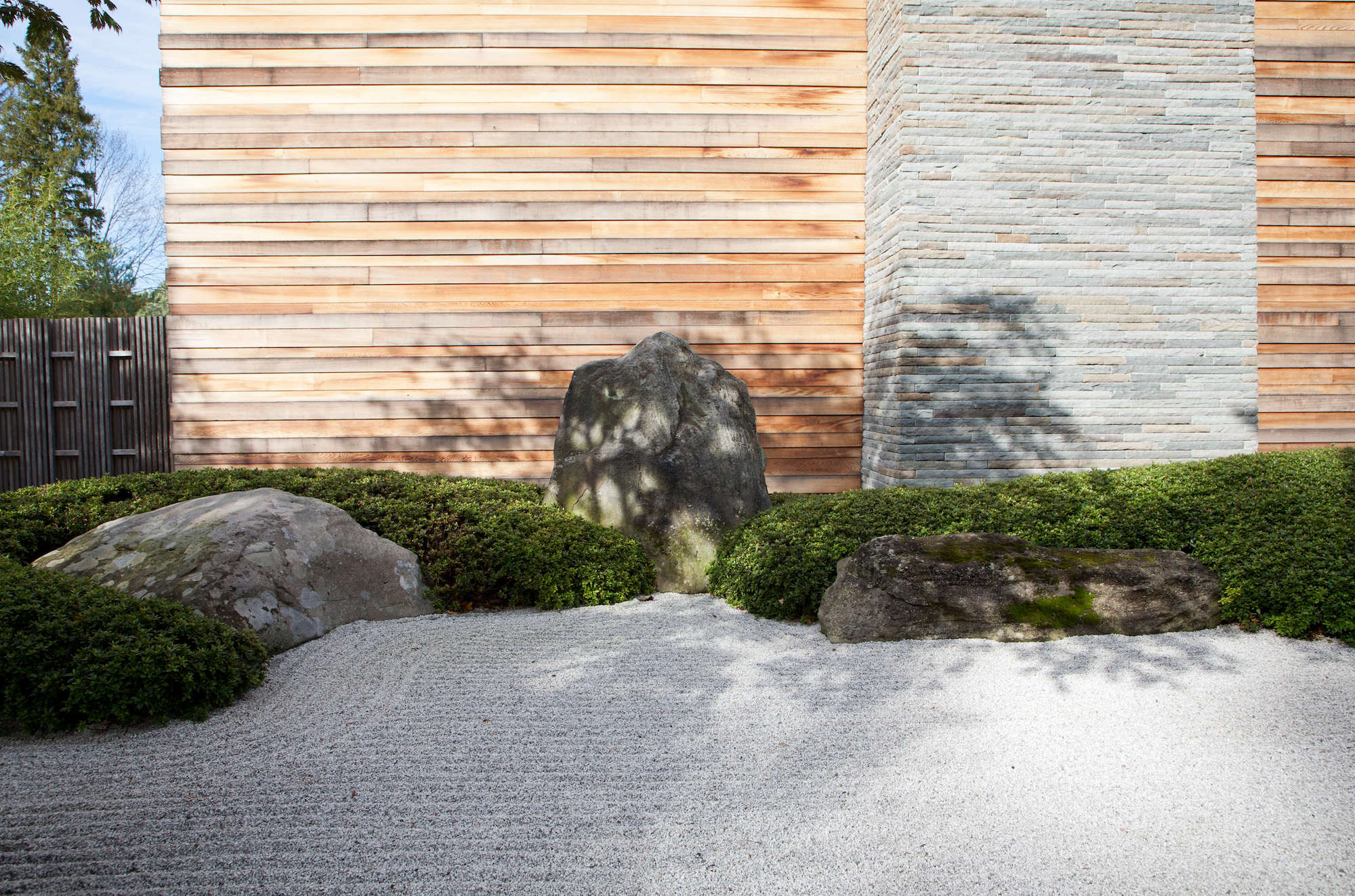 The sand that comprises the ocean garden is finely crushed white granite.