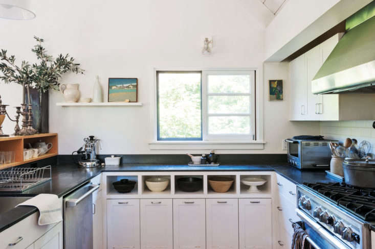 In her Mill Valley, California, kitchen, Remodelista editor in chief Julie Carlson installed paper composite countertops during a remodel. Photograph by Matthew Williams.