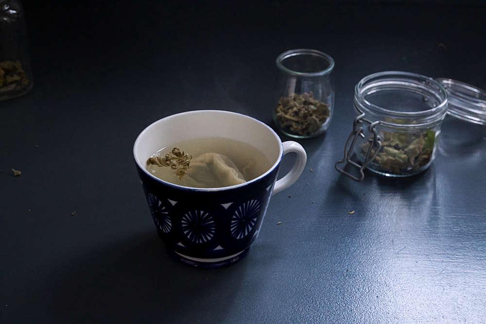 scented geranium how to dry leaves sachet tea