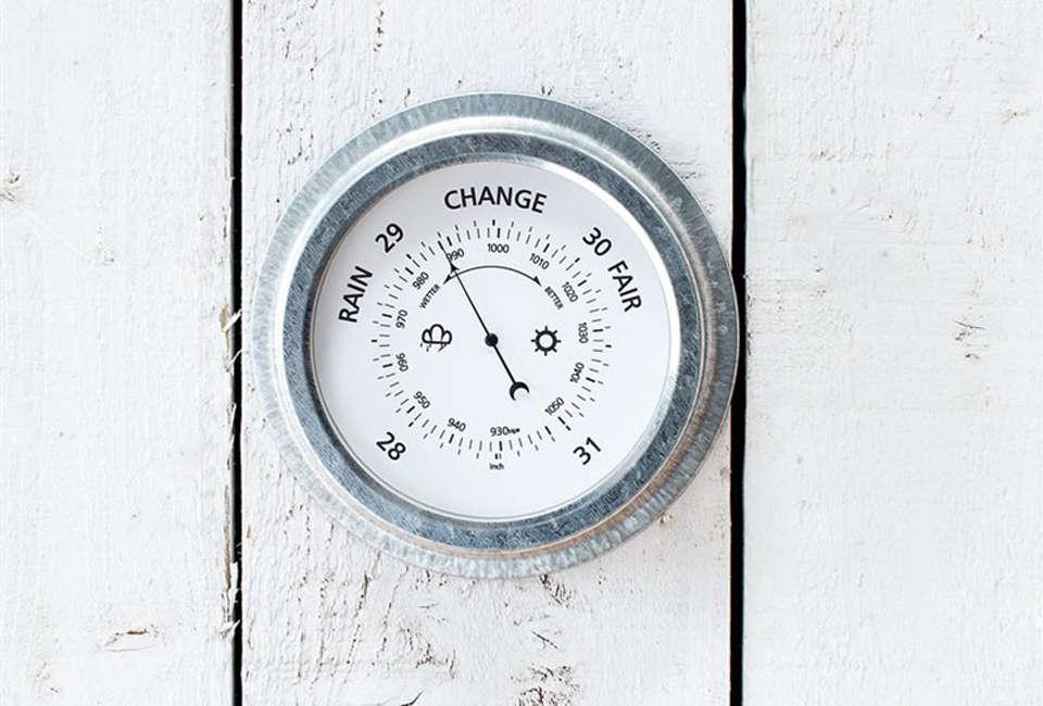 St. Ives Barometer in Galvanized Steel