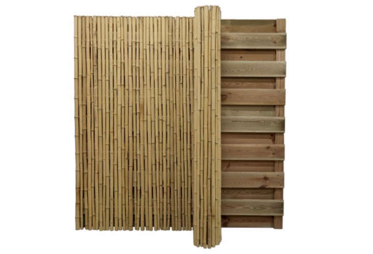 The calming simplicity of a Japanese-style fence, with its emphasis on natural materials and minimal distractions, creates a serene backdrop of bamboo, wicker, or wood. Photograph via Bamboo.