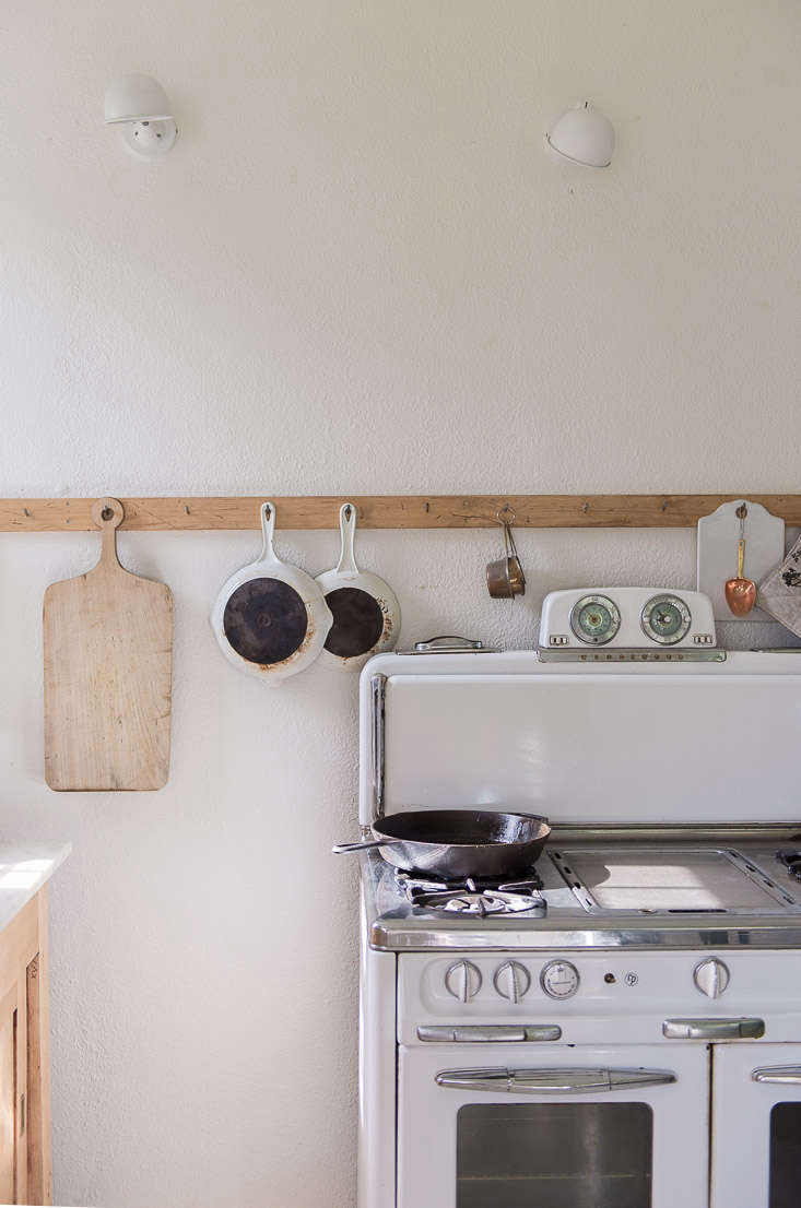 An antique Wedgewood stove in a blogger's Montana kitchen; seeKitchen of the Week: Rustic Chic on a Budgetfor more.