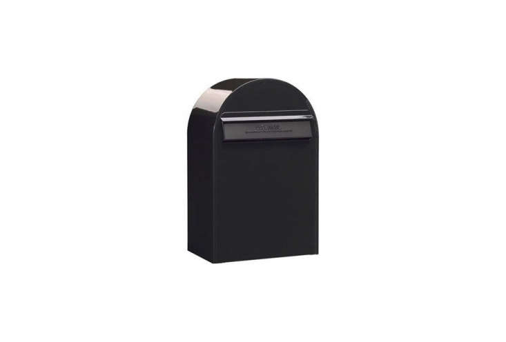 The Bobi Classic Mailbox in Structured Black is accessed through the back of the mailbox. Available through Bobi.