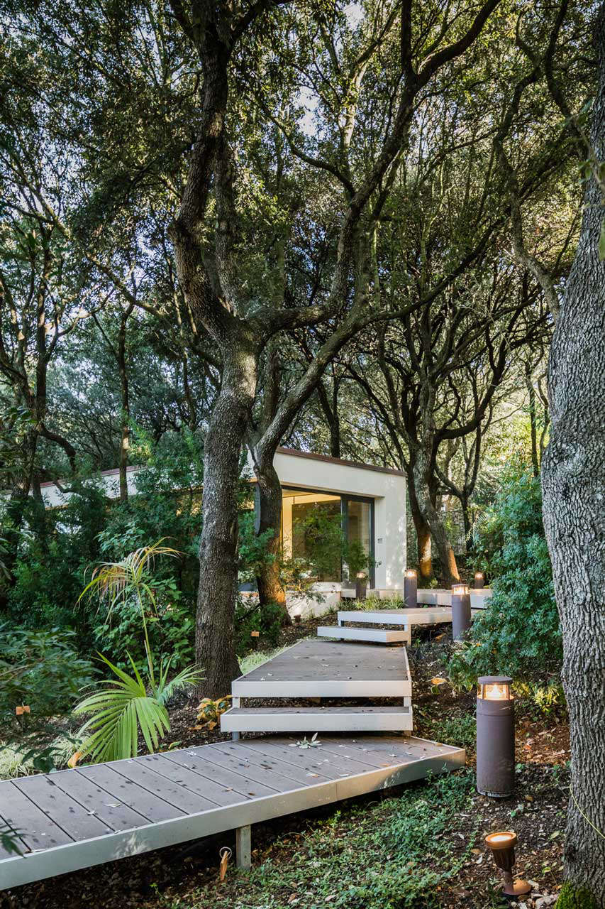 deck-walkway-path-to-modern-house-in-forest-sardinia