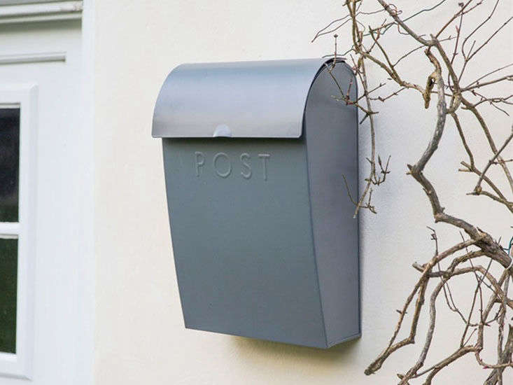 The Extra Large Post Box in charcoal is £45at Willow & Stone.