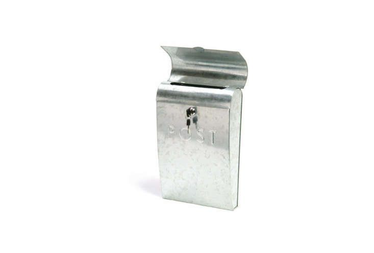 Post Box with Lock in Galvanised SteelThe is £ at Garden Trading.