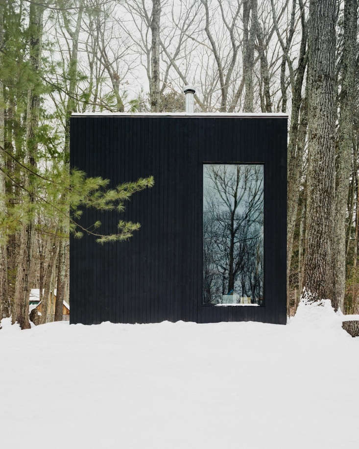 The salvaged red oak was cut, then dried for years before being used to construct the cabin.The cabin&#8