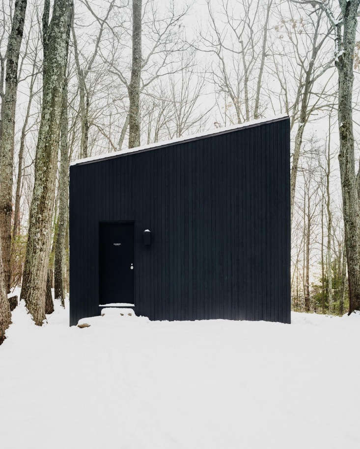 Koxvold worked with architecture firm Studio Padron to build the small cabin, keeping the design simple so that heand his friends could build itthemselves.