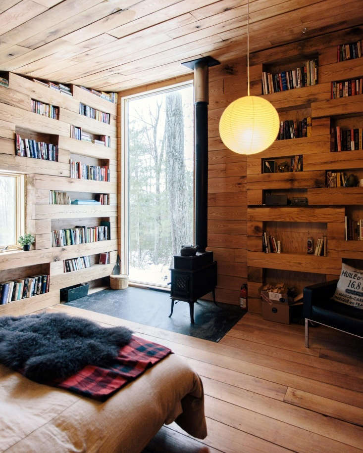 Inside, the tiny \290-square-foot cabin is snug and efficient.