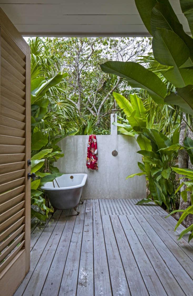 Jamaica Outdoor Shower Sean Knibb Art Gray