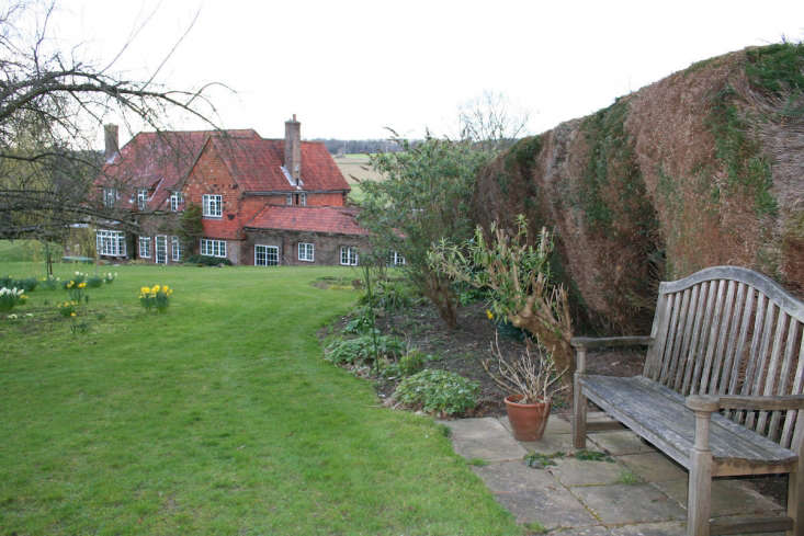 Guilfoyle removed an enormous leylandii hedge that surrounded the original plot to make the new kitchen garden visible.