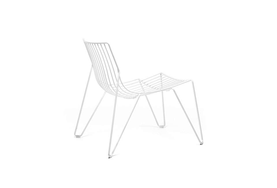 Massproductions Tio Easy Chair in White