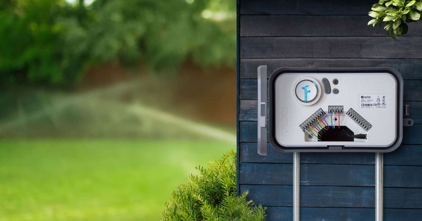 A smart irrigation controller from Rachio. Photograph courtesy of Rachio, from Hardware src=