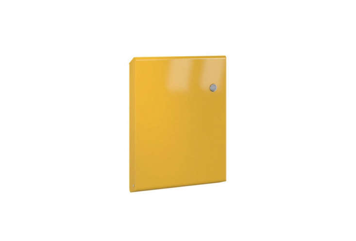 The Serafini Slim Letterbox in Yellow is designed by Atelier 5