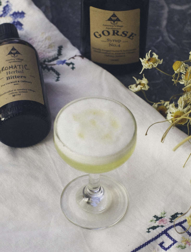 Gorse Sour Cocktail from America Village, Ireland.