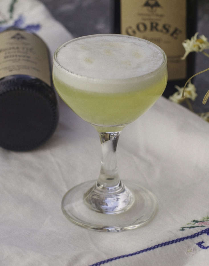 Beware the Ides of March: Gorse Sour cocktail from America Village Apothecary, Ireland.