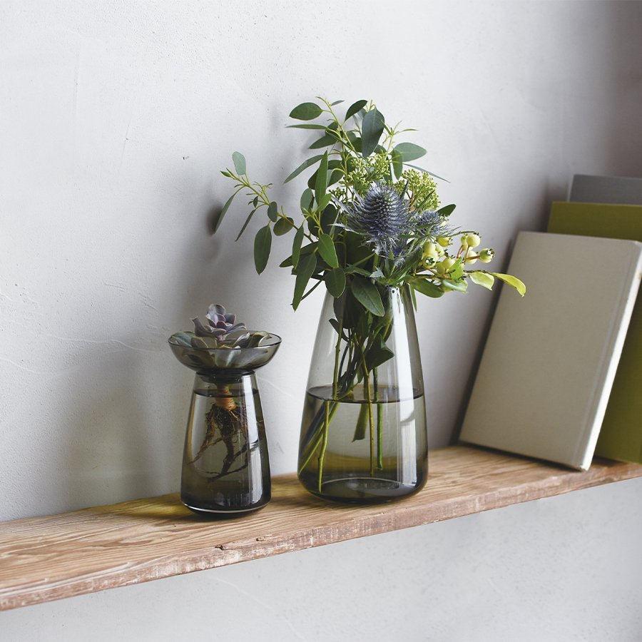 The Aqua Culture Vase in gray.
