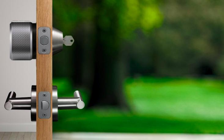 The August Smart Door Lock in situ.